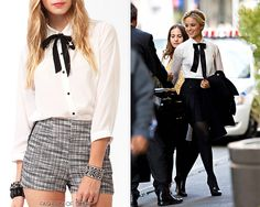LOOK FOR LESS: Forever 21 Pintucked Button Up w/ Neckerchief - $22.80