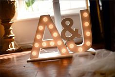 2 Initials, Including '&' Symbol (300mm High) – Lights by Jamie
