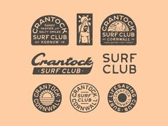 Crantock Surf Club II designed by Luke Harrison. Connect with them on Dribbble; the global community for designers and creative professionals. Smile Club, Branding Design, Logo Design, Graphic Design, Surf Design, Surf Logo, Identity, Surf Brands, Online Drawing