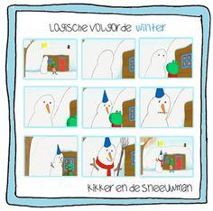 Logische volgorde Kikker en de sneeuwman | Thema WINTER