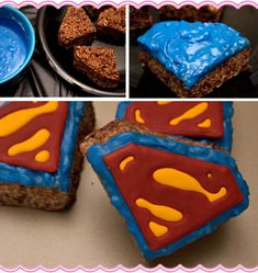 Superman Rice Krispie Treats