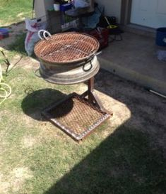 How to build a no-weld tire rim grill – DIY projects for everyone! Metal Projects, Welding Projects, Metal Crafts, Outdoor Projects, Diy Projects, Bbq Grill, Grilling, Fire Pit Bbq, Fire Pit Backyard