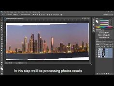 Photoshop Tutorial : Create Panoramic image - YouTube
