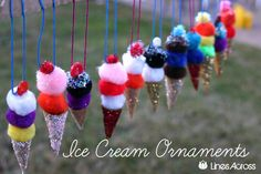 Free Ice Cream Ornaments {Christmas Ornament #4}