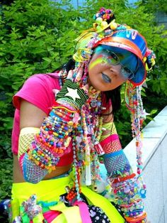 Harajuku Girl...so not my style, but WOW do I appreciate the effort to accessorize here.