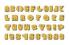 Vector alphabet. Gold memphis font.. Script Fonts