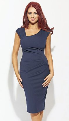 3298 Chloe Navy Ruched Occasion Dresses www.dressesonline.ie