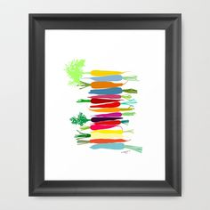 Carrots Framed Art Print by Pragya Kothari Inc - $35.00