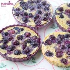Budinca de cuscus cu afine / Blueberry couscous bake Tart Molds, Sugar Free Treats, Muffin, Mini Tart, Healthy Sweets, Healthy Food, Healthy Eating, Raw Vegan, Baby Food Recipes