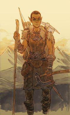 NEITHER SECONDS NOR CENTURIES | hchomgoblin: Old Skyrim characters.