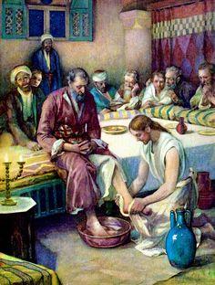 jesus washes the disciples feet | Jesus Washing Disciples Feet