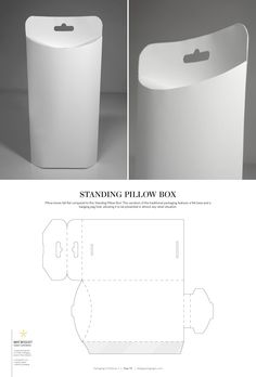 Standing Pillow Box – structural packaging design dielines