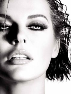 Milla Jovovich -- Editorial - Photography - Black and White - Portrait