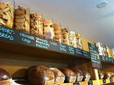 Cookie display at The Bread Basket Bakery in Saratoga Springs