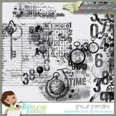 By the Numbers Art Bytes by Christine Smith $1.79 Sale: $1.29 Save: 28% off  Get your grunge on with these 6 digital stamps. Use as-is, clip papers or gradients to them or recolor. (Tutorial HERE)