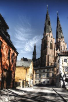 Uppsala cathedral view. Vista de la catedral de Uppsala. | Flickr - Photo Sharing!