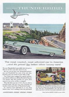 1958 Ford Thunderbird Ad - USA by Five Starr Photos ( Aussiefordadverts), via Flickr