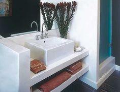banheiros com nichos em alvenaria