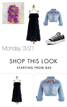 """monday"" by disneyboundqueen on Polyvore featuring NOVICA and Converse"