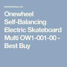 Onewheel Self-Balancing Electric Skateboard Multi OW1-001-00 - Best Buy