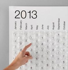 Bubble Calendar, would be a cute idea for deployment for the kiddos. Pop one every day and when you pop the last one daddy's home