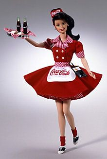 Coca-Cola® Barbie® Doll (Brunette Waitress)