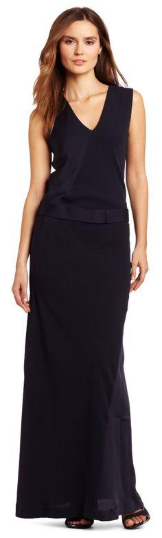 HALSTON HERITAGE Women's Sleeveless V-Neck Column Dress