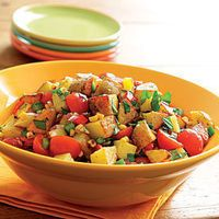Roasted Potato Salad with Bell Peppers, Roasted Corn & Tomatoes