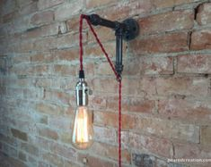 Applique Lampada industriale ciondolo di newwineoldbottles