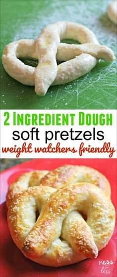 2 Ingredient Dough Pretzels - Weight Watchers friendly! This soft pretzel recipe is easy to make and will allow you to enjoy a pretzel with no guilt. Squeeze on some mustard and enjoy!