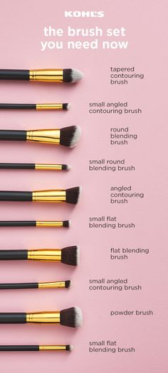 Finding the perfect brush set isn't always easy, so we've picked out a new favorite set from BH Cosmetics you just have to try, including 10 different brushes for contouring, blending and more. We especially love that it's all cruelty free! Find new makeu Makeup 101, Makeup Goals, Skin Makeup, Makeup Inspo, Makeup Inspiration, Makeup Ideas, Makeup Tutorials, Makeup Guide, Eye Makeup Brush Set