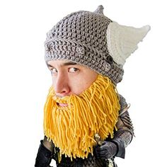 cc45452e8bd Buy Beard Head The Original Barbarian Thor Knit Beard Hat (Yellow)  Shop  top fashion brands Hats   Caps at Cheapcapssmall.
