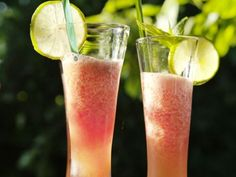 Melonslush med limejuice  och ljus rom