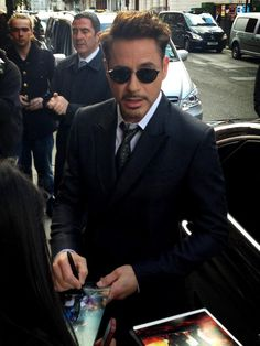 RDJ in London Iron Man 3 Tour April 18, 2013