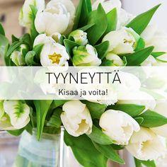 ★ Soulful White ★ Valkoiset tulppaanit ovat elegantteja ja ne henkivät rauhaa ja levollisuutta. Mikä tulppaanikimppu on sinun suosikkisi?  Osallistu kisaan ja voit voittaa 50 euron arvoisen kukkalahjakortin. http://www.kauniistikotimainen.fi/ https://www.facebook.com/malle.taar/posts/10203698556164576