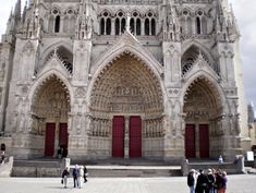 A detail view of the three main portals on the Western Facade of the cathedral. Celestial, Our Lady, Archaeology, Art History, Barcelona Cathedral, Facade, New York City, Taj Mahal, Architecture