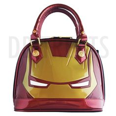 Marvel Avengers Iron Man Large Face Purse Hand Bag by Loungefly