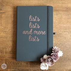 lists lists and more lists - notebook - navy / copper / yes (+£2.75)
