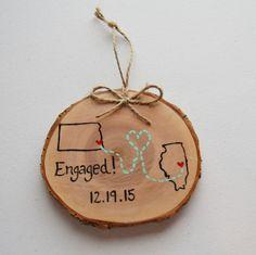 Hand paintedEngaged CouplesLong by GretasHandmadeGifts on Etsy