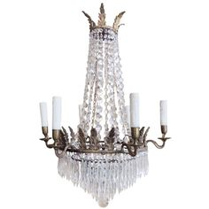 1820's English Adams Style Chandelier