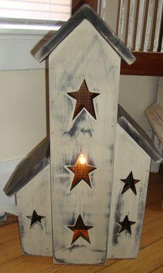 Handmade Primitive Light House- $75 prophetbrosantiques.com or 'like' us at: facebook.com/prophetbros.