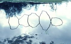 Andy Goldsworthy, Forked sticks in water High Bentham, Yorkshire March 1979