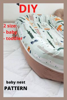 Pattern for sewing a baby nest with a removable mattress. Two size: - baby - toddler The cover is removble mattress. A cozy baby nest made of eco-friendly and hypoallergenic materials will create feeling of the kid's safety and comfort. Baby Nest Pattern, Diy Mattress, Snuggle Nest, Preparing For Baby, Baby Birth, Simplicity Patterns, Learn To Sew, Baby Items, Baby Shower Gifts
