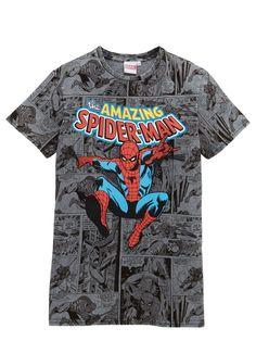 Spiderman BOYS AMAZING ACID WASH T-SHIRT (3-10yrs) | very.co.uk