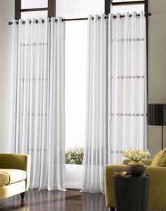 cortinas blancas modernas - Buscar con Google