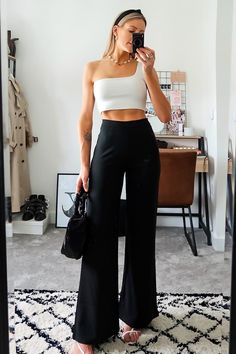 Fabulous Summer Outfits That Always Looks Fantastic Black Pants Outfit, Spring Fashion, Winter Fashion, Preppy Summer Outfits, Fashion Tips For Women, Womens Fashion, Cool Style, My Style, Petite Outfits