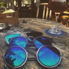 Two of my favorite things.sunglasses and CRAFT beer! Places In Bangkok, Round Sunglasses, Mirrored Sunglasses, Craft Beer, Photo And Video, My Favorite Things, Instagram, Round Frame Sunglasses, Home Brewing