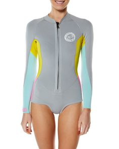 SURFSTITCH - SURF - WETSUITS - WOMENS SPRING SUITS - BILLABONG SURF CAPSULE LS CHEEKY SPRING SUIT - FOG