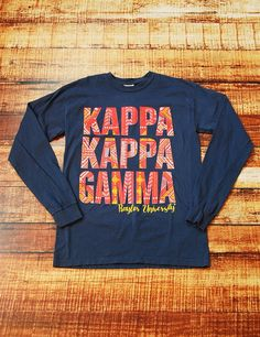KAPPA KAPPA GAMMA BAYLOR - Show your love for your Chapter in this new Kappa Kappa Gamma long sleeve t-shirt. What better way to show your love for your awesome Sorority. #baylor #kappa