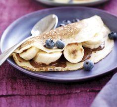 Chocolate and banana crêpes - Healthy Food Guide